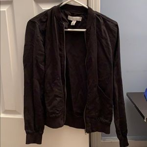 Kenneth Cole XS Womens black bomber jacket zip up
